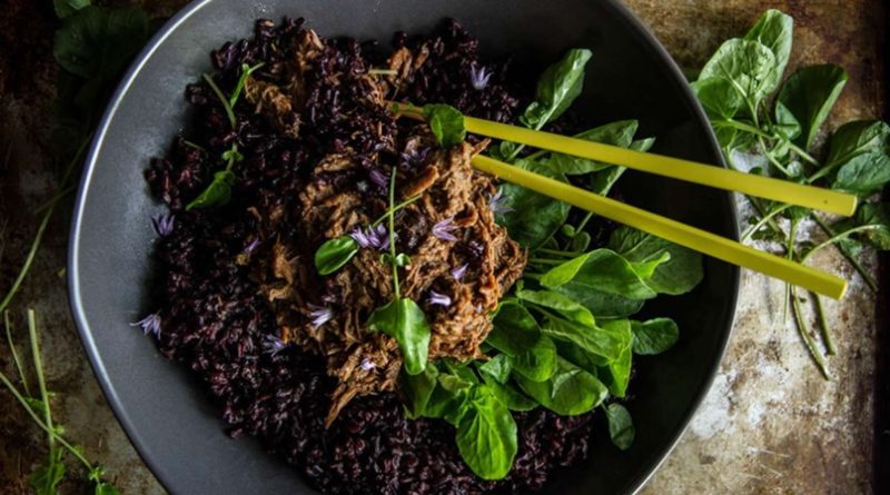 Тушенка с черным рисом