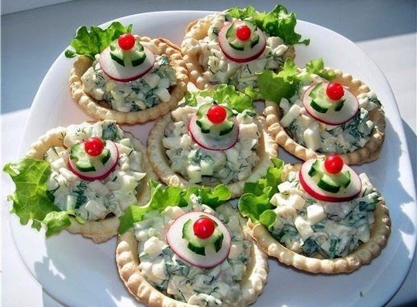 Вкуснейшие начинки для тарталеток к праздничному столу