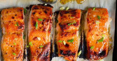 Запеченный лосось по-тайски