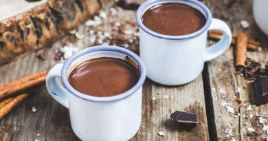 Горячий шоколад с миндальным пюре