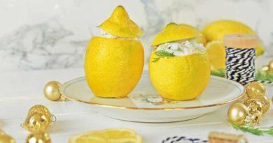 Лимоны, фаршированные семгой