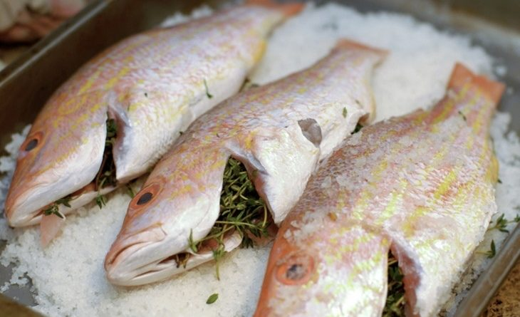 Приготовления рыбы в соли