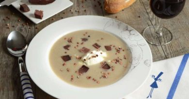 Гречневый суп с бастурмой
