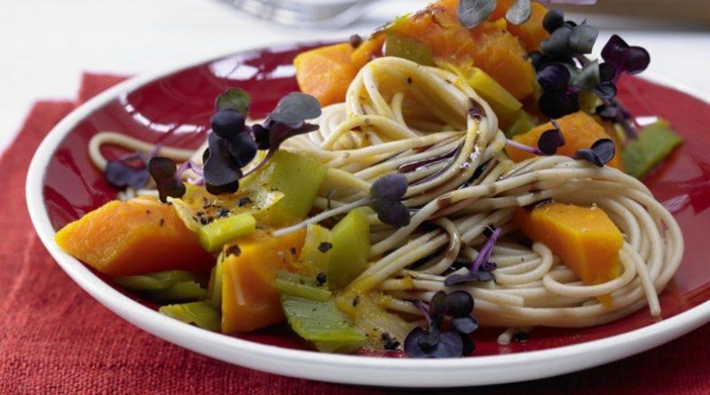 Спагетти с тыквенным соусом