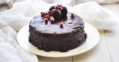 Шоколадный торт с орехово-нутовой пралине